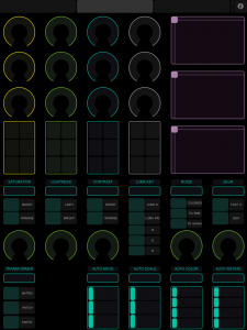 iPad touchOSC template for Modul8 effects section